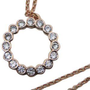 Kate Spade Full Circle Pendant Necklace Rose Gold